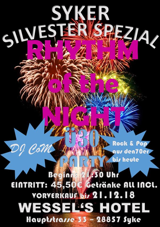 Flyer für Syker Silvester Party